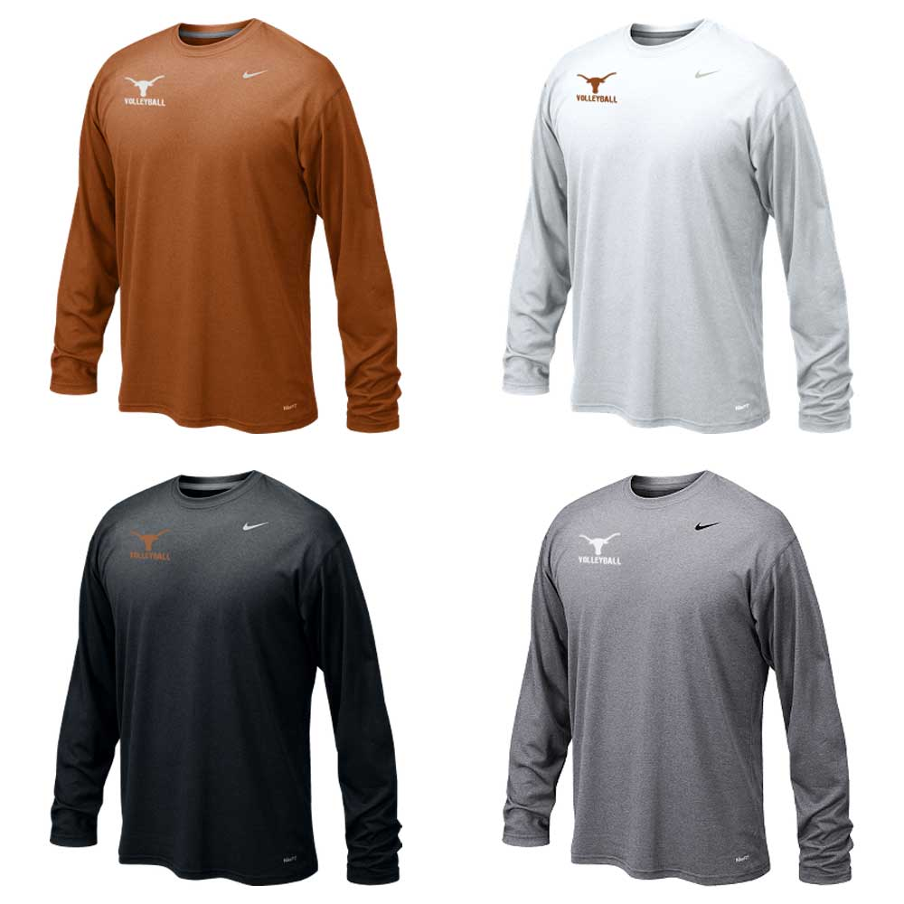 Dri Fit Practice Shirt Long Sleeve Texas Volleyball Camps