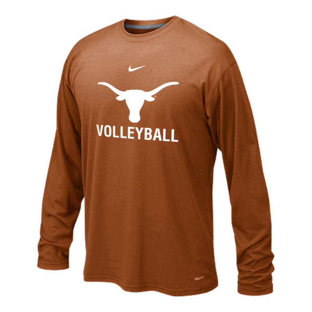 Longhorn Dri Fit Long Sleeve Texas Volleyball Camps